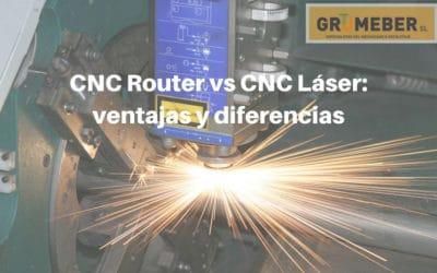 CNC Router vs CNC Láser: ventajas y diferencias